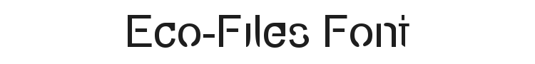 Eco-Files Font Preview