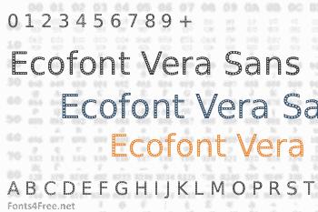 Ecofont Vera Sans Font