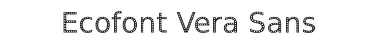 Ecofont Vera Sans