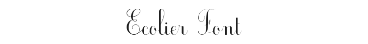 Ecolier Font Preview