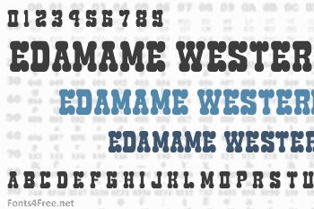 Edamame Western Font