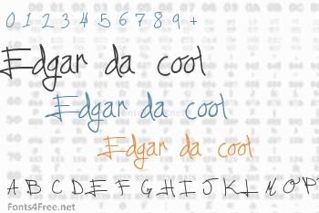 Edgar da cool Font