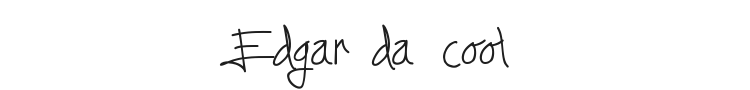 Edgar da cool Font Preview