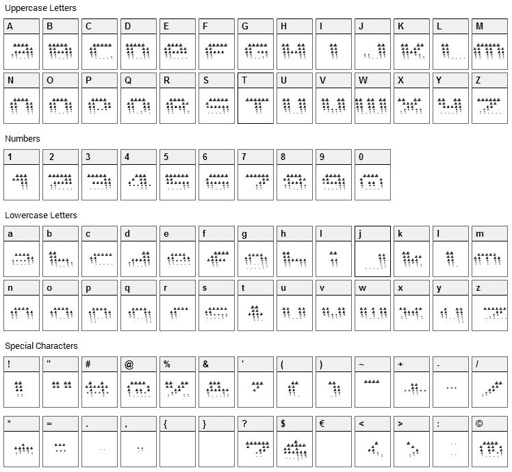 Edgarpiramide Font Character Map