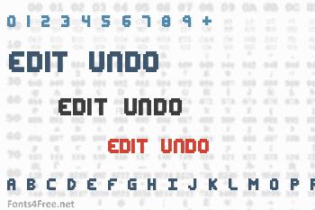 Edit Undo Font