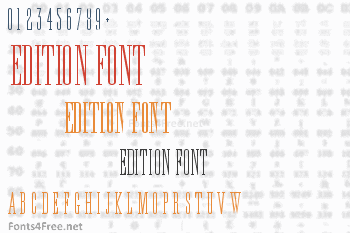 Edition Font