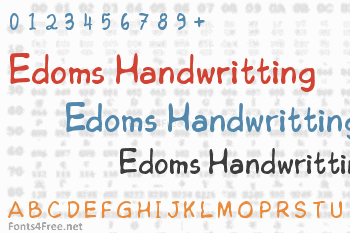 Edoms Handwritting Font