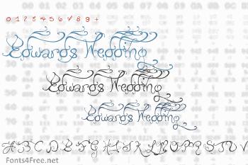 Edwards Wedding Font