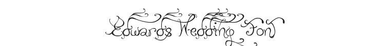 Edwards Wedding Font