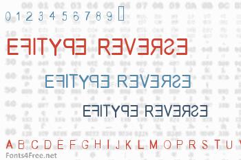 Efitype Reverse Font