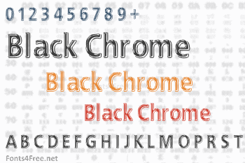 EFN Black Chrome Font