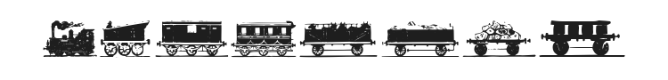 Eisenbahn Font Preview