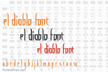El Diablo Font