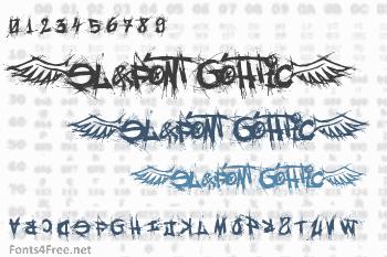 El&Font Gohtic! Font