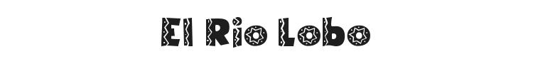El Rio Lobo Font Preview