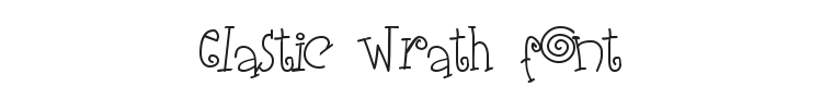 Elastic Wrath Font Preview