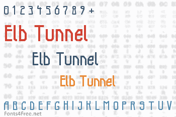 Elb Tunnel Font