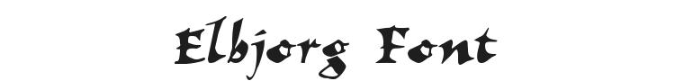Elbjorg Font Preview
