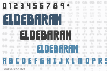 Eldebaran Font