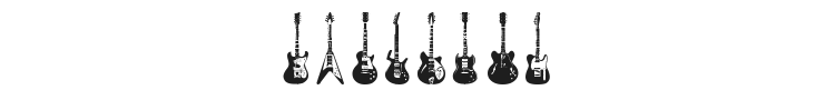 Electric Guitar Icons Font Preview