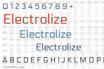 Electrolize Font