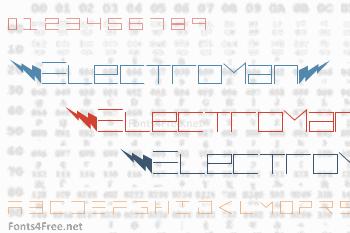 ElectroMan Font
