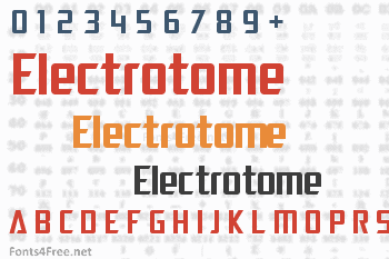 Electrotome Font