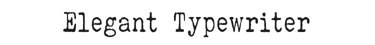 Elegant Typewriter Font Preview