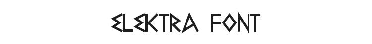Elektra Font Preview