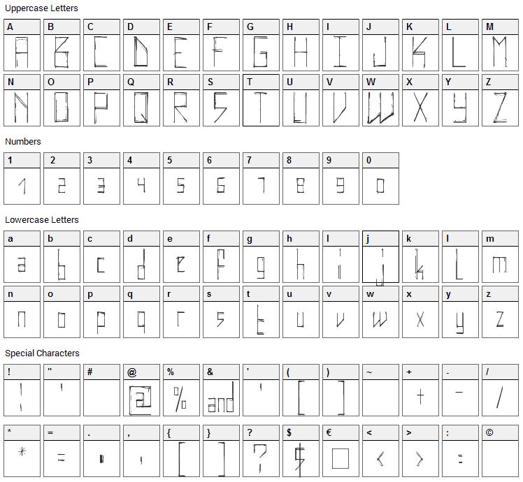 Elektrodisiac Font Character Map