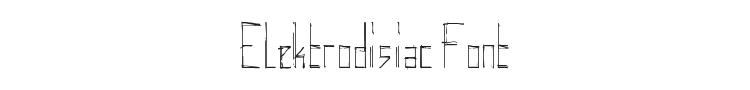 Elektrodisiac Font Preview