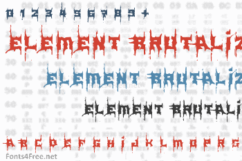Element Brutalized Font