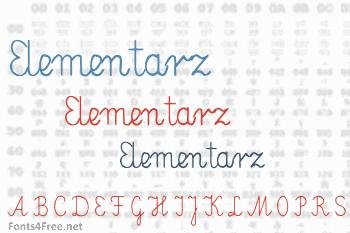 Elementarz Font