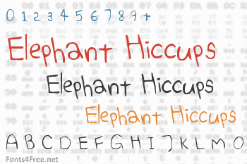 Elephant Hiccups Font
