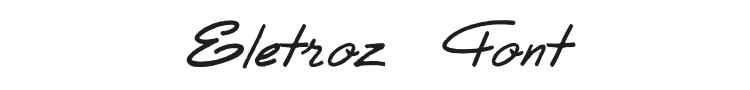 Eletroz Font Preview