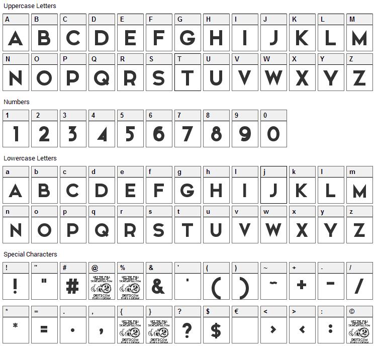 Elkwood Font Character Map