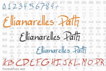 Ellianarelles Path Font
