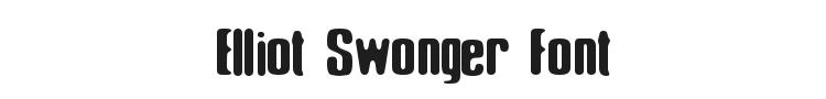 Elliot Swonger Font Preview