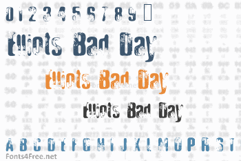 Elliots Bad Day Font