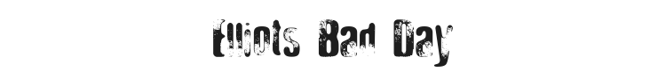Elliots Bad Day Font Preview