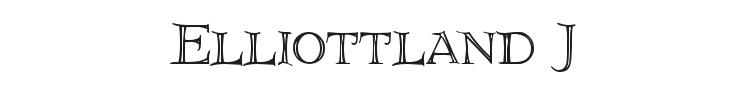 Elliottland J Font Preview