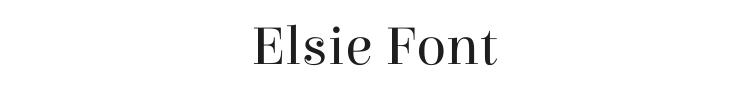 Elsie Font Preview