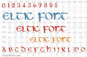 Eltic Font