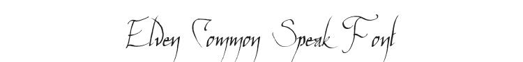 Elven Common Speak