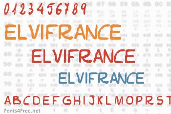 Elvifrance Font