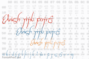 Elvish Ring Font