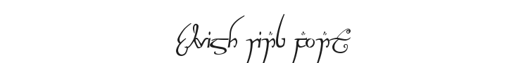 Elvish Ring Font Preview