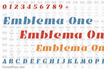 Emblema One Font