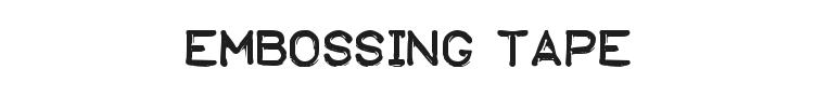 Embossing Tape Font