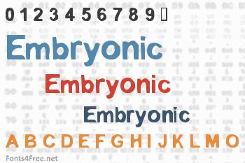 Embryonic Font